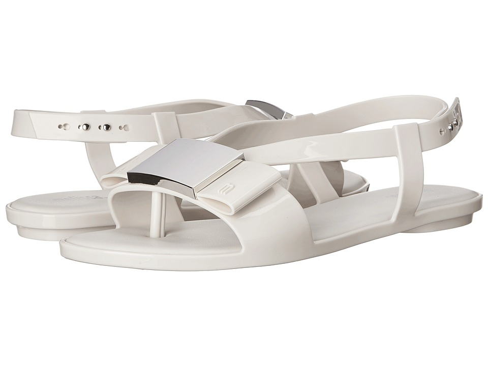 Melissa Shoes - Flat Lovely (White) Women's Dress Sandals