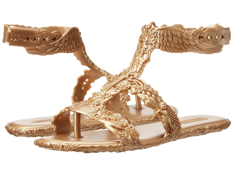 Melissa Shoes Campana Barroca Sandal (Gold Glitter) Women