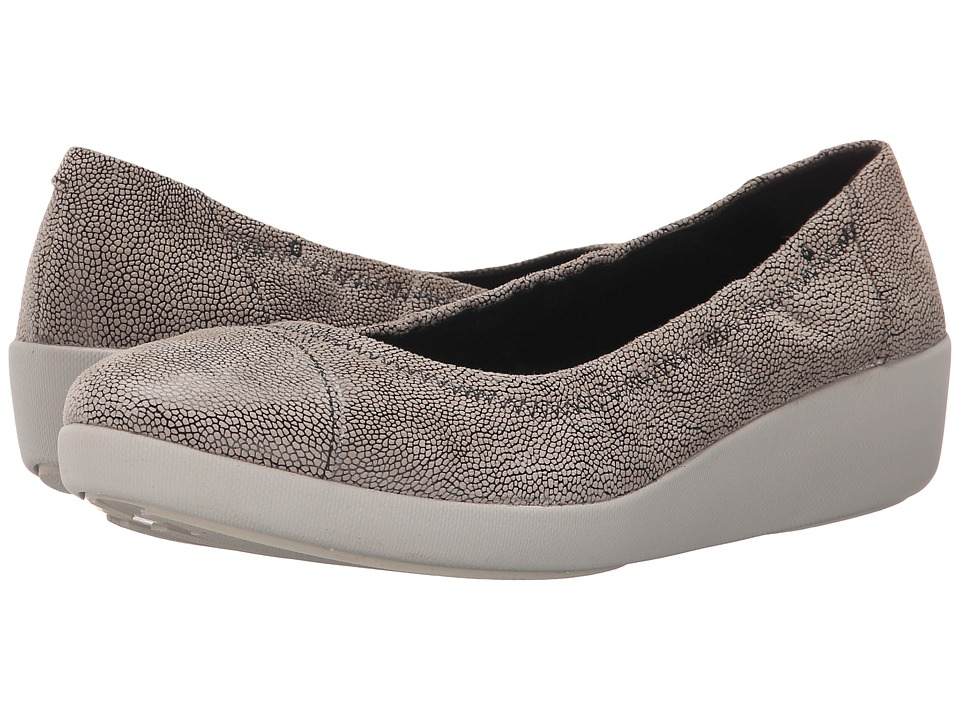 FitFlop - F-Pop Ballerina (Stone (Pebbleprint)) Women's Shoes