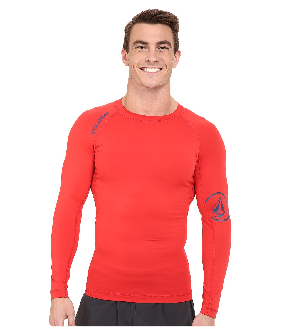 Volcom - Solid Long Sleeve Rashguard (Dust Red) Men's Swimwear