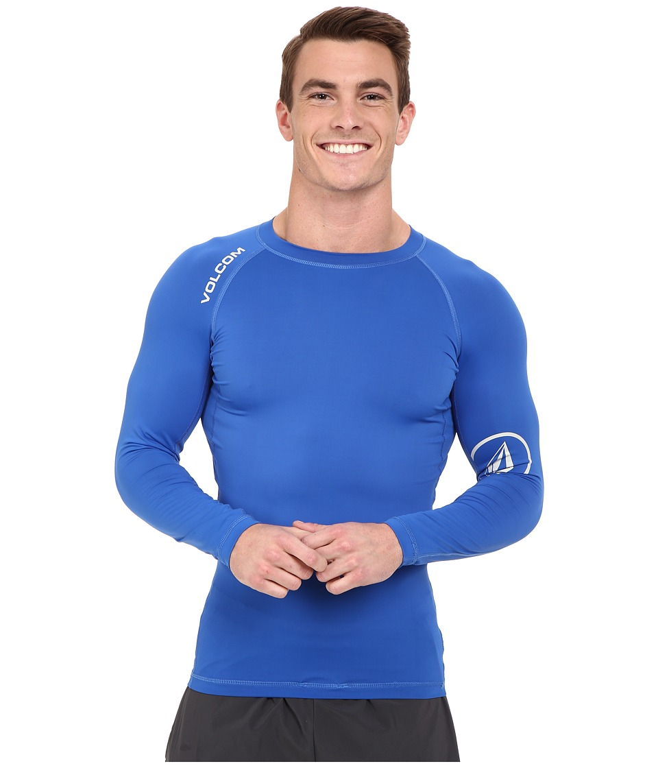 Volcom - Solid Long Sleeve Rashguard (Estate Blue) Men's Swimwear