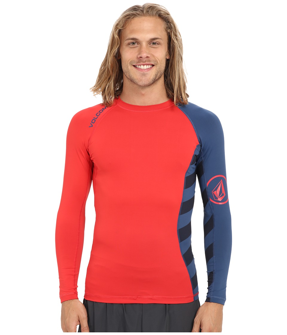 Volcom - Change Up Long Sleeve Rashguard (Navy Paint) Men's Swimwear
