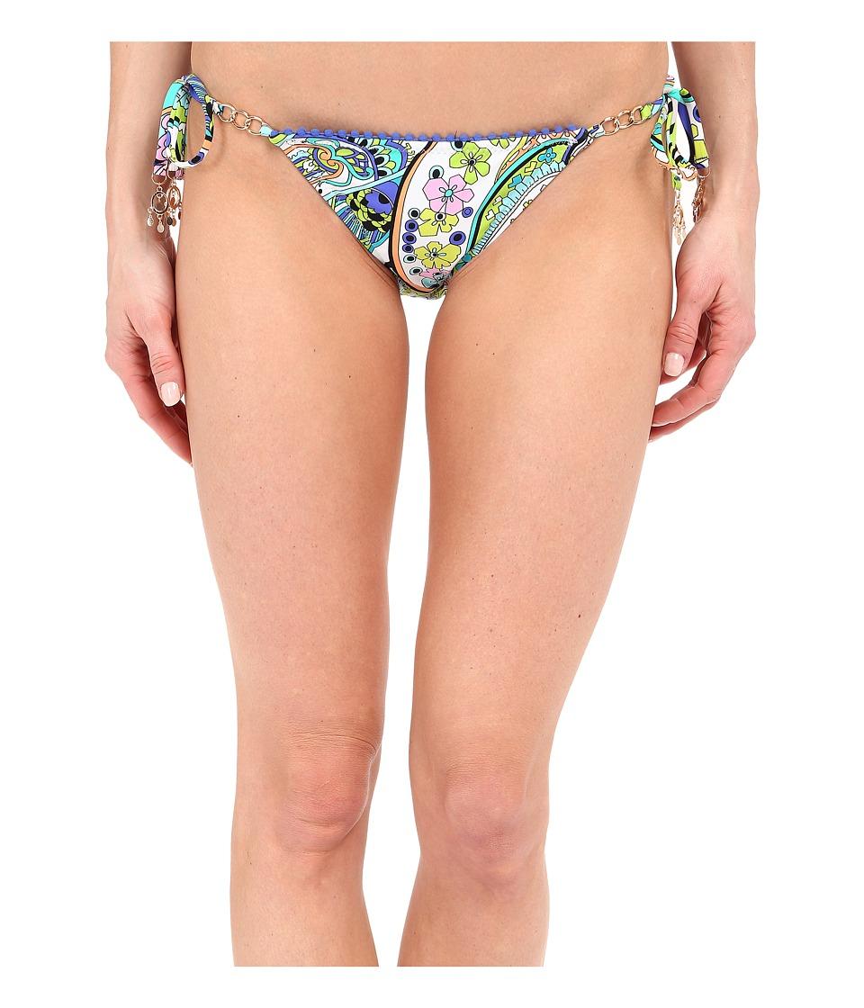 Trina Turk - Nomad Paisley Tie Side Hipster Bottoms (Cobalt) Women's Swimwear