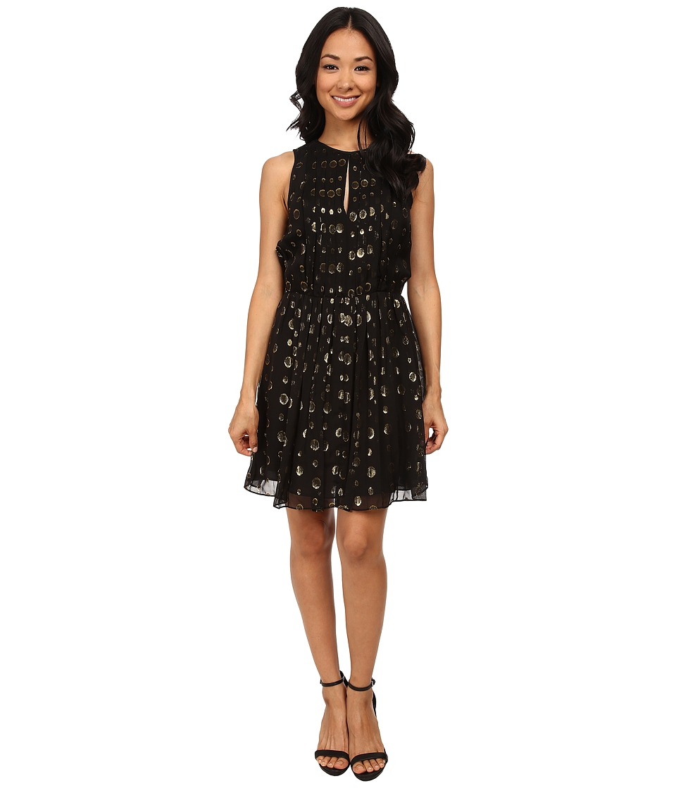 MICHAEL Michael Kors - Leones Spot Jacquard Dress (Black) Women's Dress