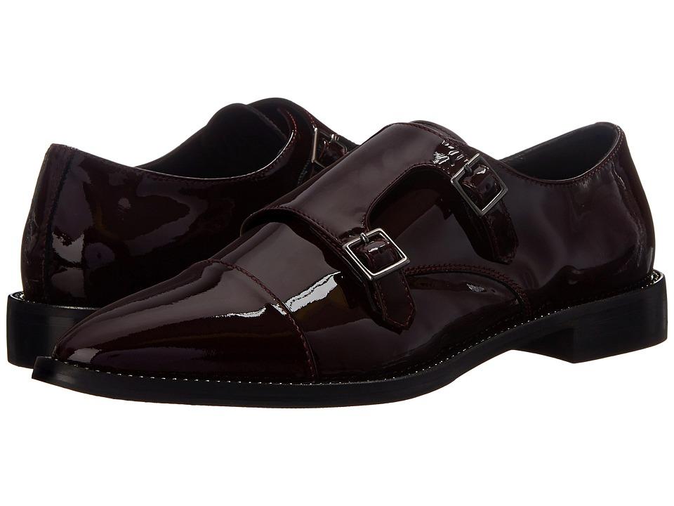Aquatalia - Harlow (Burgundy Patent) Women's Monkstrap Shoes