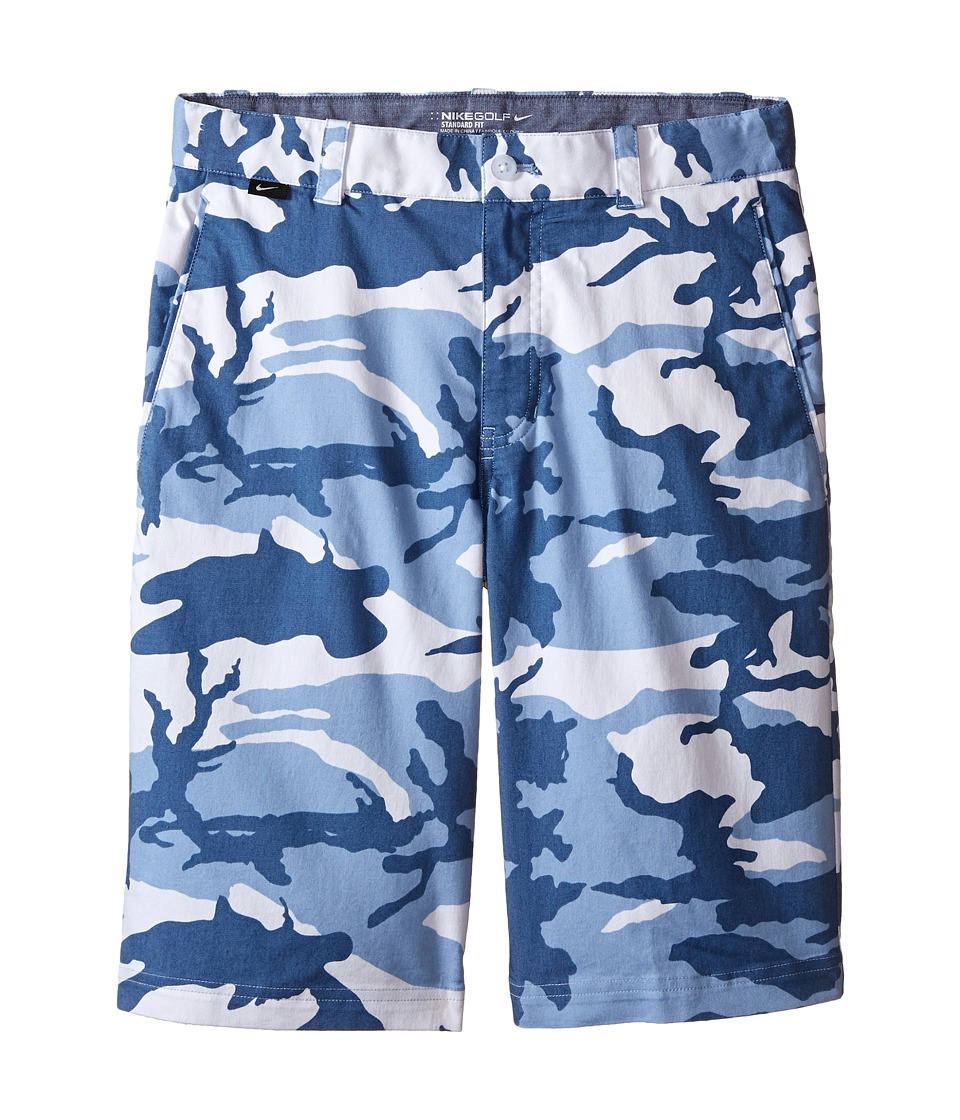 Nike Kids - Print Shorts (Little Kids/Big Kids) (White/Blue Grey/Ocean Fog/Wolf Grey) Boy's Shorts