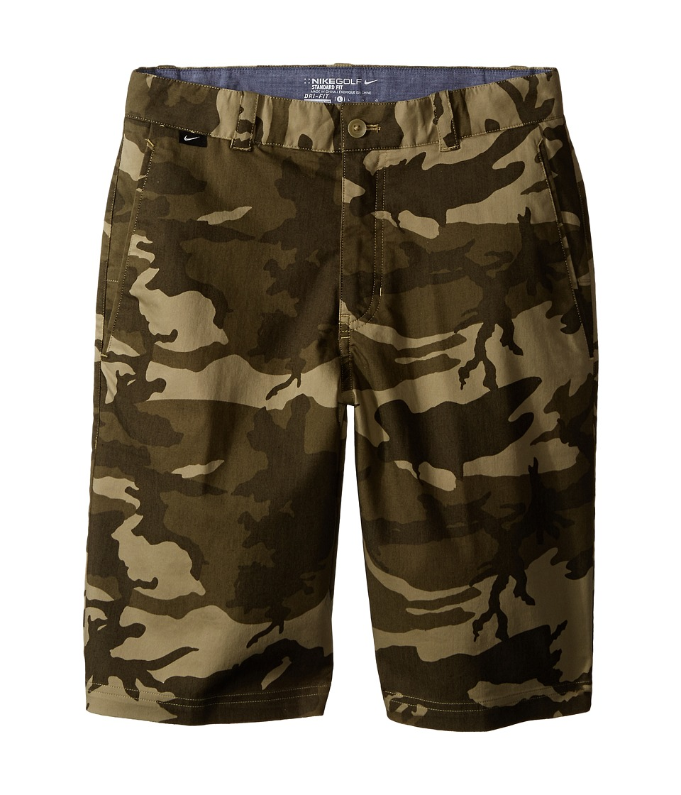 Nike Kids - Print Shorts (Little Kids/Big Kids) (Neutral Olive/Medium Olive/Cargo Khaki/Wolf Grey) Boy's Shorts