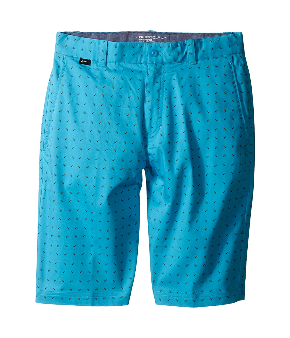 Nike Kids - Print Shorts (Little Kids/Big Kids) (Omega Blue/Vivid Orange/Dark Grey/Wolf Grey) Boy's Shorts