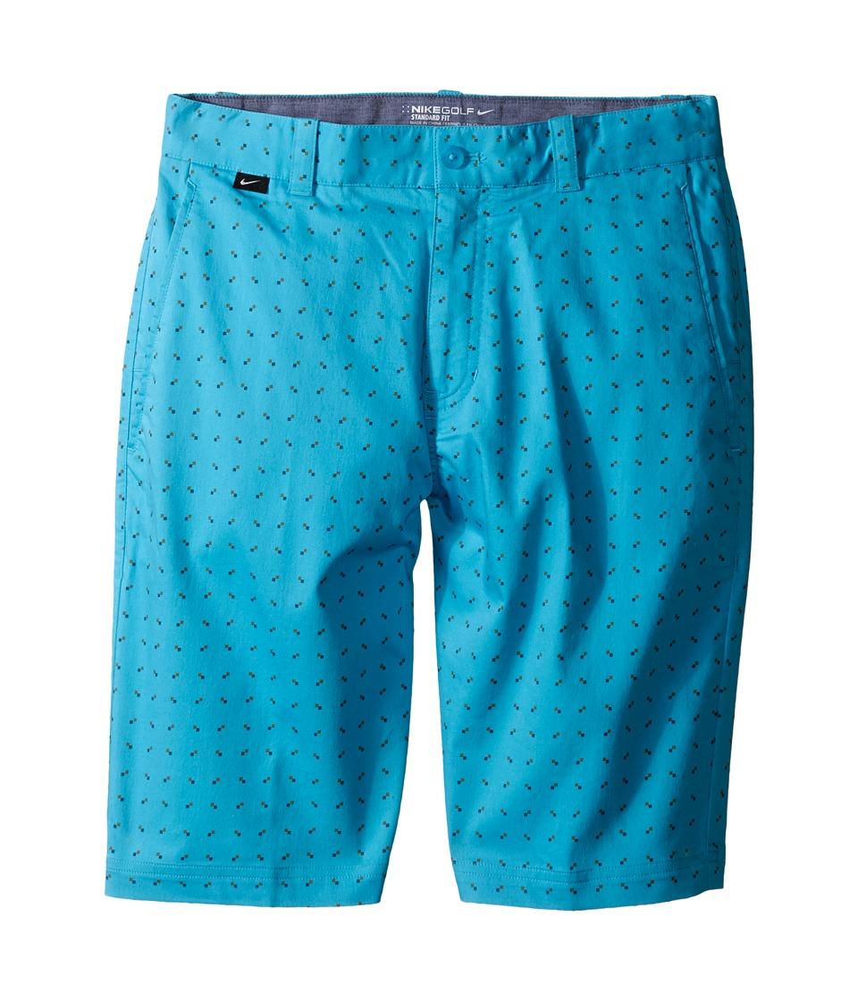 Nike Kids - Print Shorts (Little Kids/Big Kids) (Omega Blue/Vivid Orange/Dark Grey/Wolf Grey) Boy's Shorts