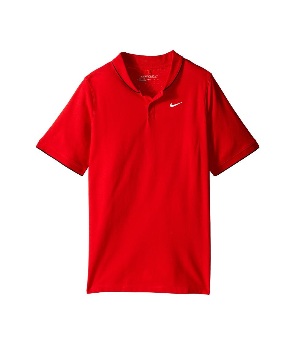 Nike Kids - Momentum Polo (Little Kids/Big Kids) (University Red/Light Crimson/Reflective Silver) Boy's Short Sleeve Pullover