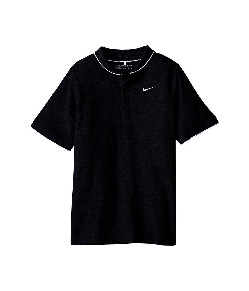 Nike Kids - Momentum Polo (Little Kids/Big Kids) (Black/White/Reflective Silver) Boy's Short Sleeve Pullover