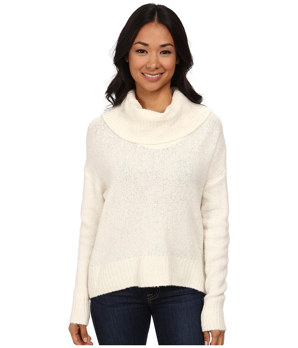 MICHAEL Michael Kors - Cowl Neck Eliptical Hem Long Sleeve Sweater (Cream) Women