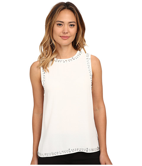 MICHAEL Michael Kors - Embellish Tank Top (Cream) Women's Sleeveless