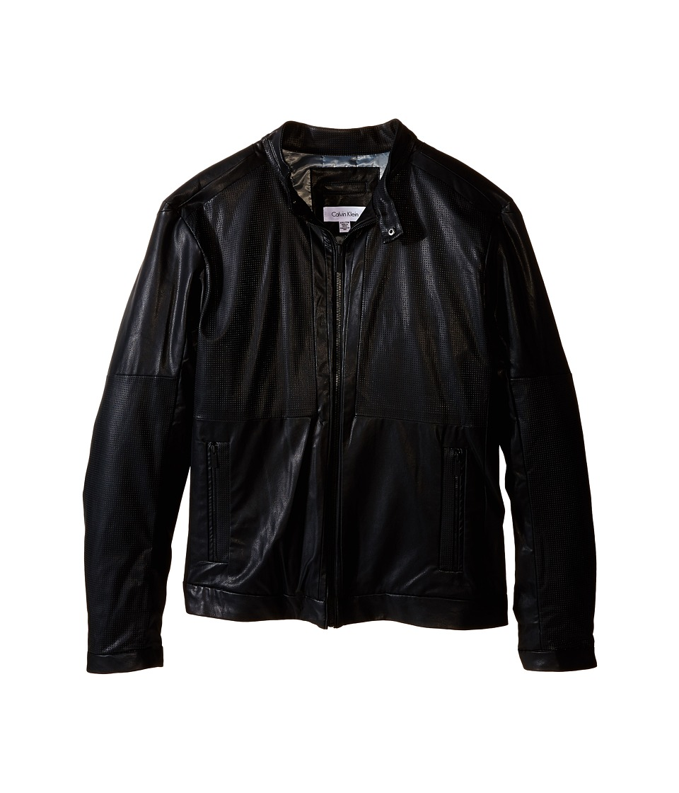 Calvin Klein - Faux Leather Perforated Jacket (Black) Men