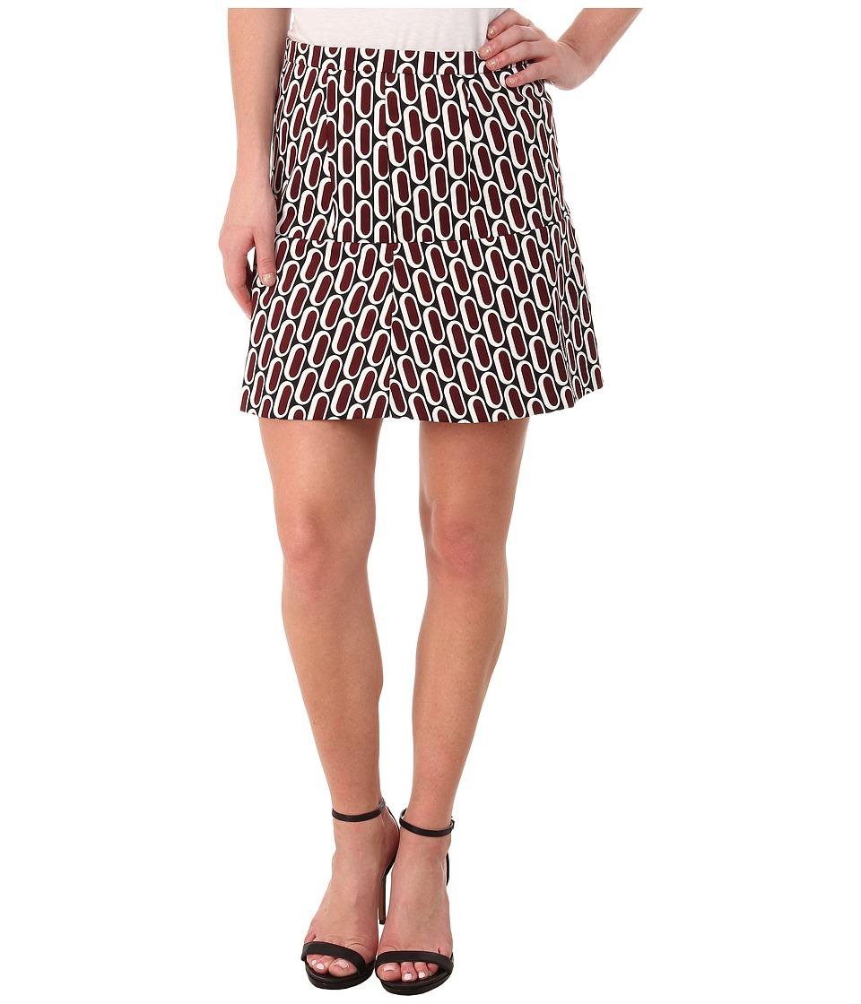 MICHAEL Michael Kors - Reyes Caps Mini Skirt (Merlot) Women's Skirt