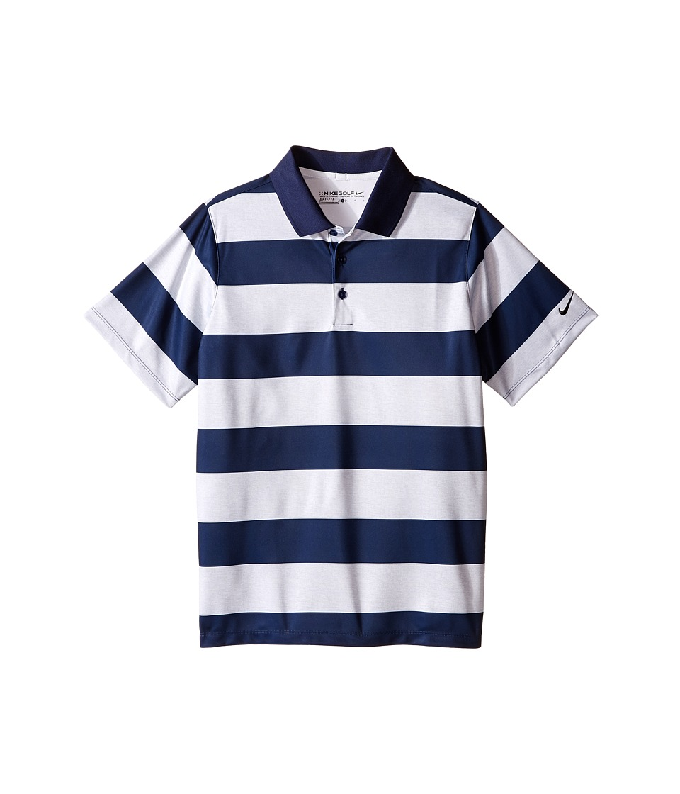 Nike Kids - Bold Stripe Polo (Little Kids/Big Kids) (Midnight Navy/Midnight Navy/Midnight Navy) Boy's Short Sleeve Pullover