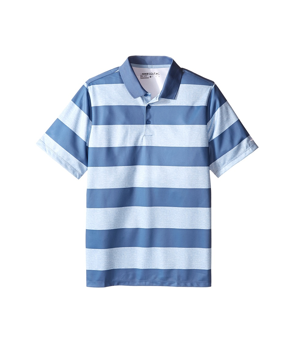 Nike Kids - Bold Stripe Polo (Little Kids/Big Kids) (Blue Grey/Ocean Fog/Ocean Fog) Boy's Short Sleeve Pullover