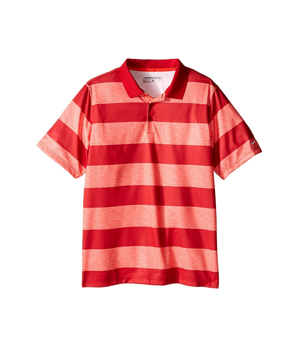 Nike Kids - Bold Stripe Polo (Little Kids/Big Kids) (Light Crimson/Gym Red/Gym Red) Boy's Short Sleeve Pullover