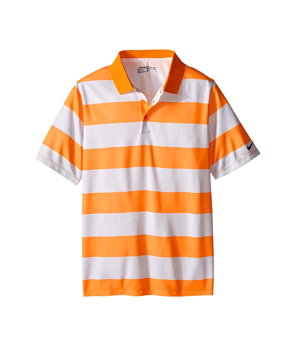 Nike Kids - Bold Stripe Polo (Little Kids/Big Kids) (Vivid Orange/White/Vivid Orange) Boy's Short Sleeve Pullover