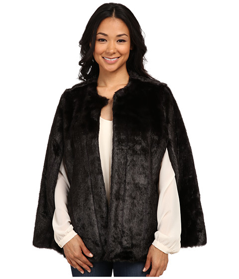 MICHAEL Michael Kors - Faux Fur Cape (Black) Women's Clothing
