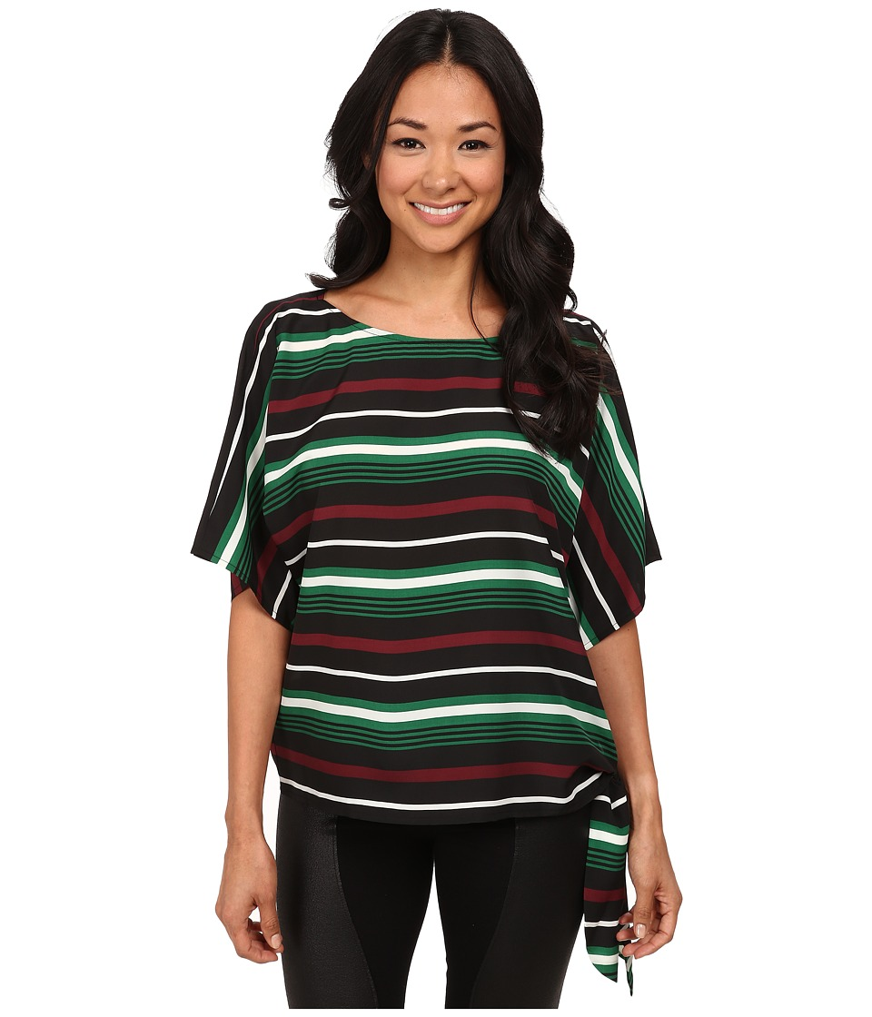 MICHAEL Michael Kors - Mauborg Stripe Tie Top (Palmetto Green) Women's Clothing
