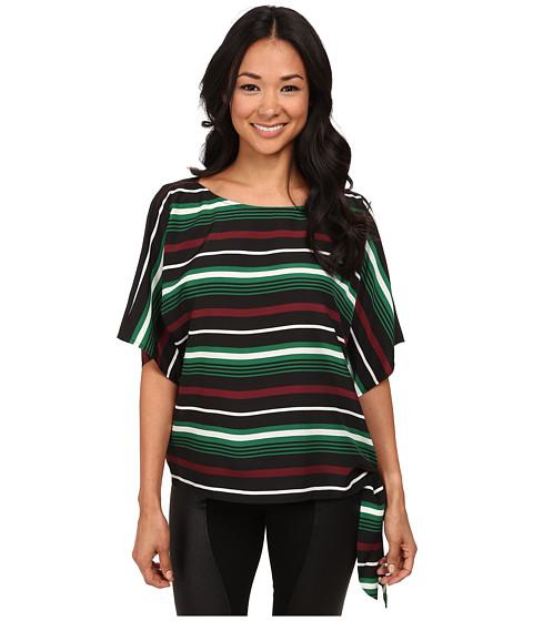 MICHAEL Michael Kors - Mauborg Stripe Tie Top (Palmetto Green) Women's Clothing