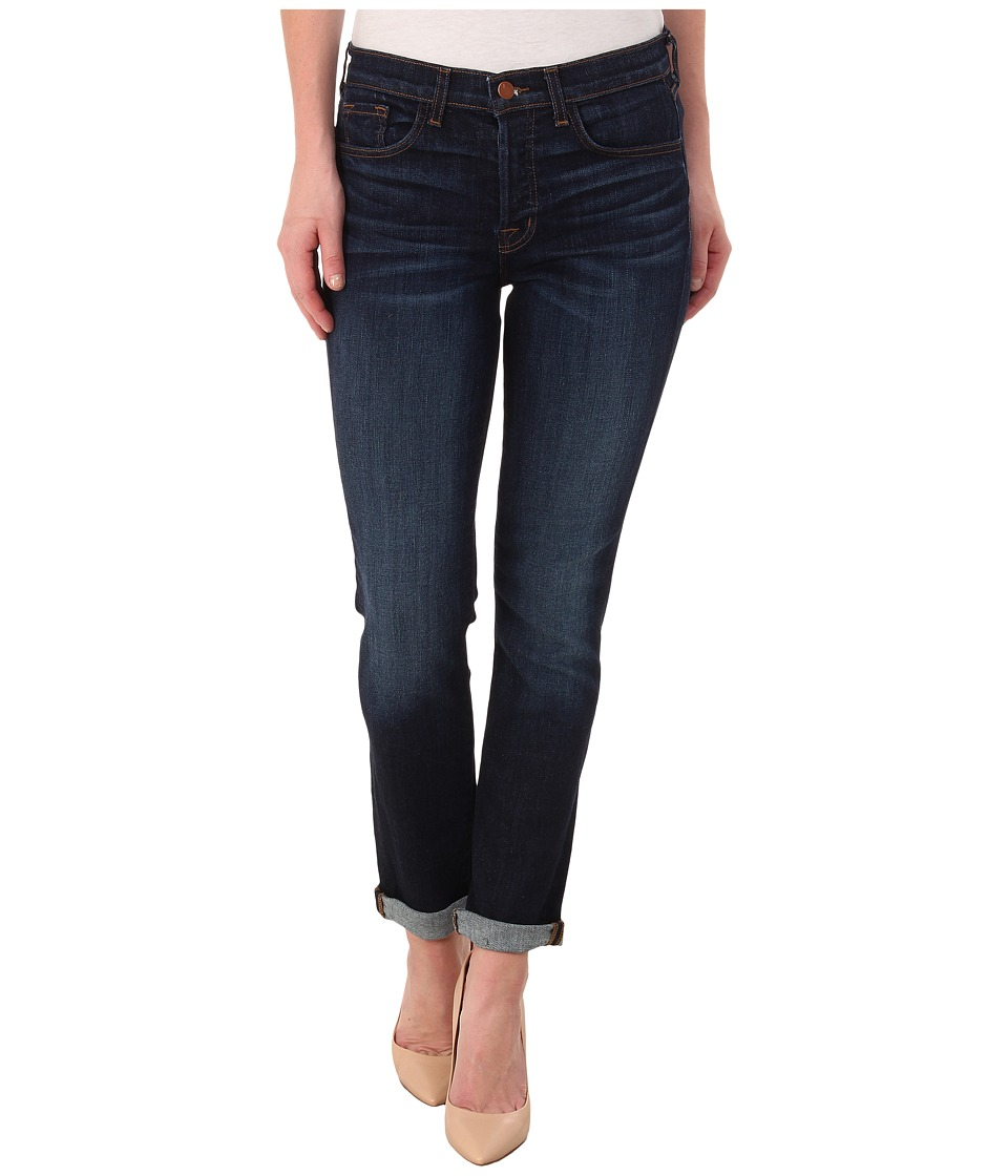 J Brand - Georgia Mid-Rise Slim Boy Fit in Invited (Invited) Women