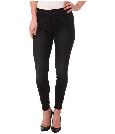 J Brand - Alana High Rise Crop in Black Elixir/Coated (Black Elixir/Coated) Women's Jeans