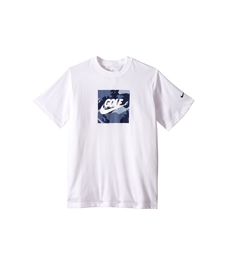 Nike Kids - Golf Graphic Tee (Little Kids/Big Kids) (White/Ocean Fog/Black) Boy's T Shirt