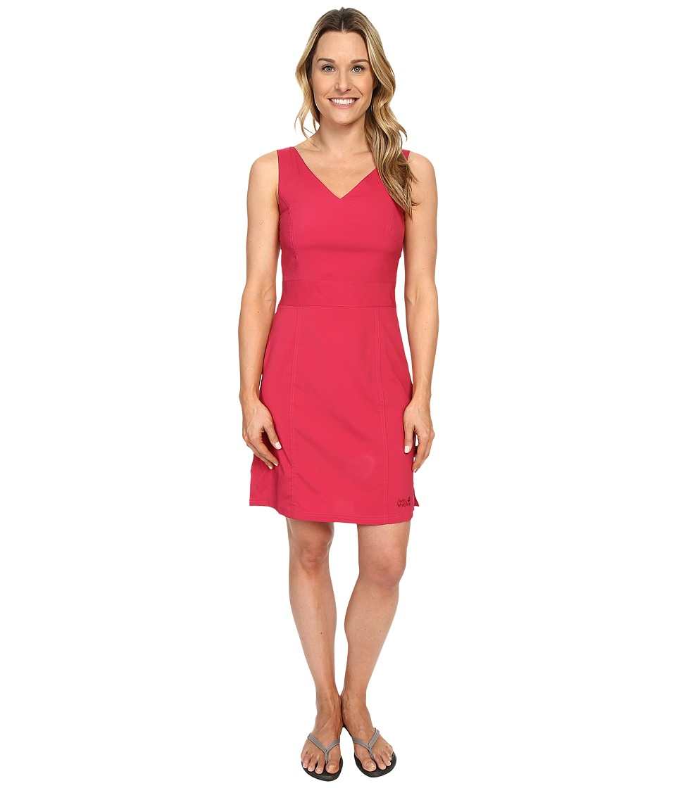Jack Wolfskin Wahia Dress (Azalea Red) Women
