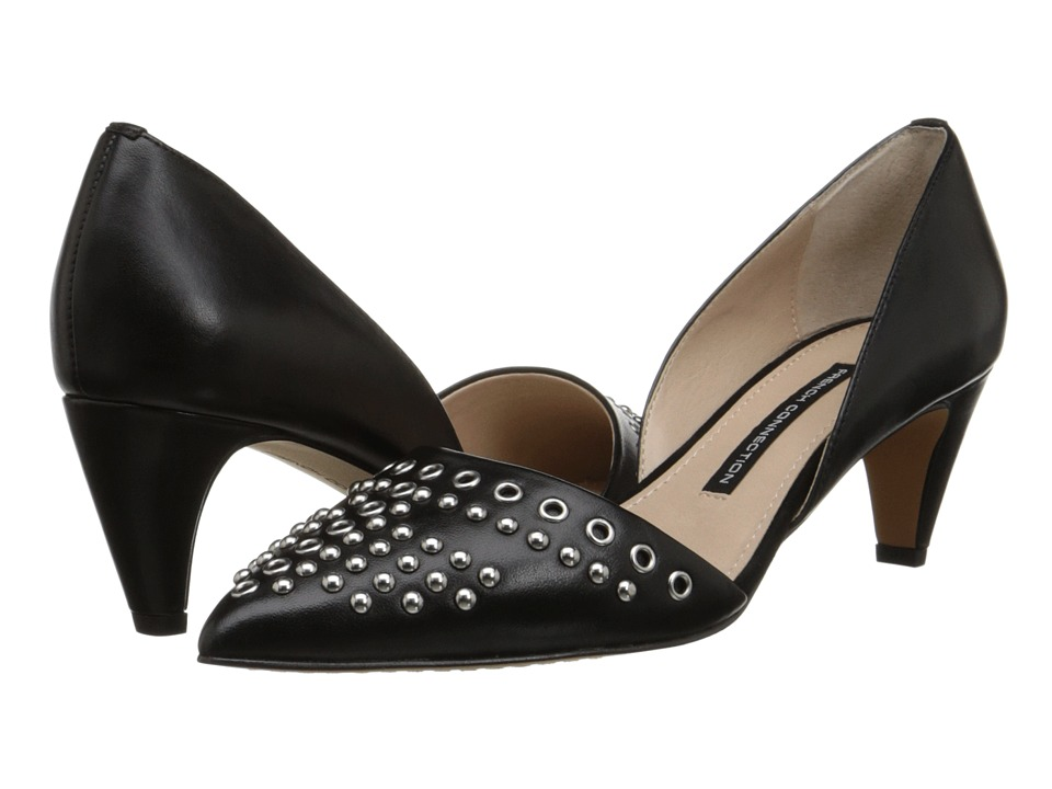French Connection - Kodee (Black/Black) High Heels