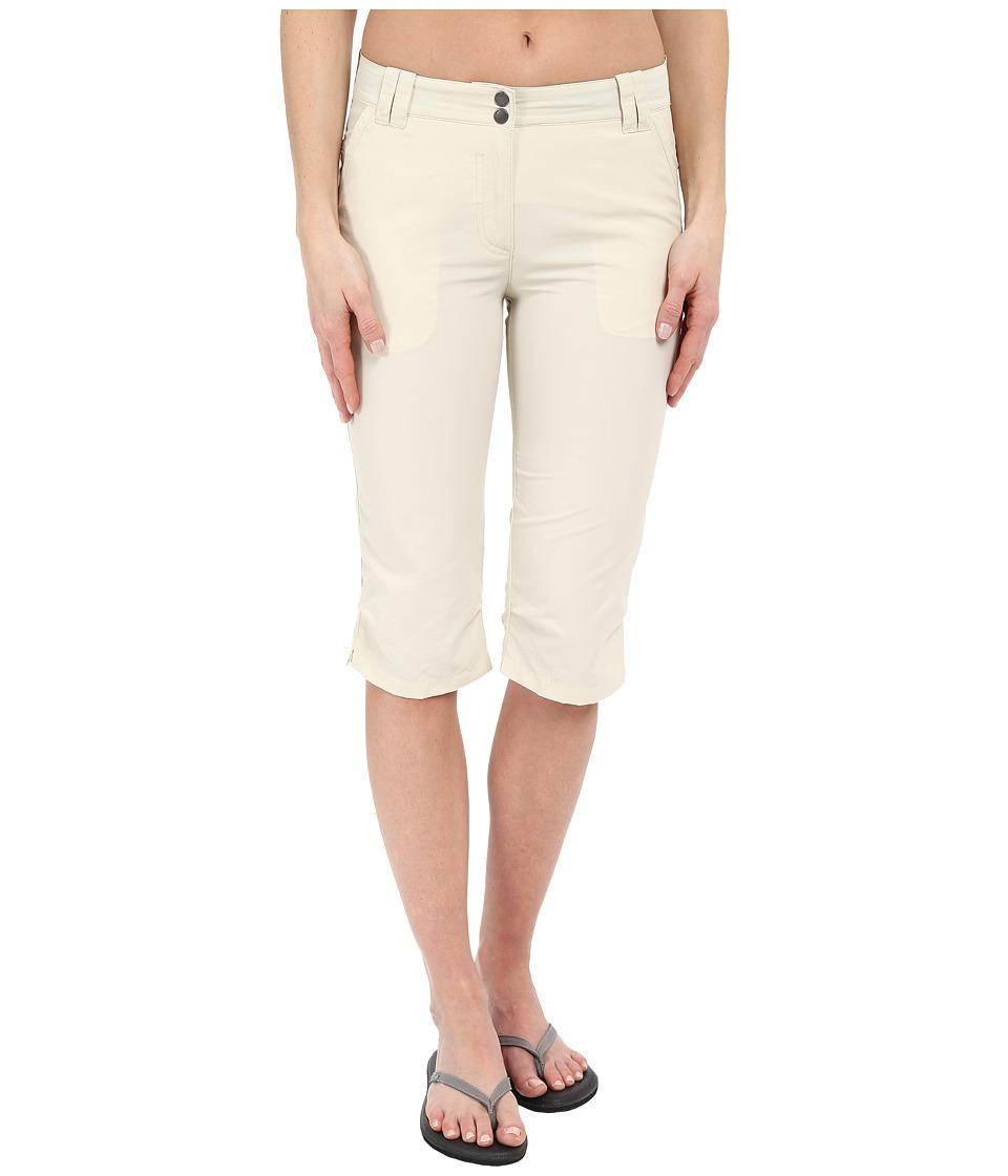 Jack Wolfskin - Kalahari 3/4 Pants (White Sand) Women's Casual Pants