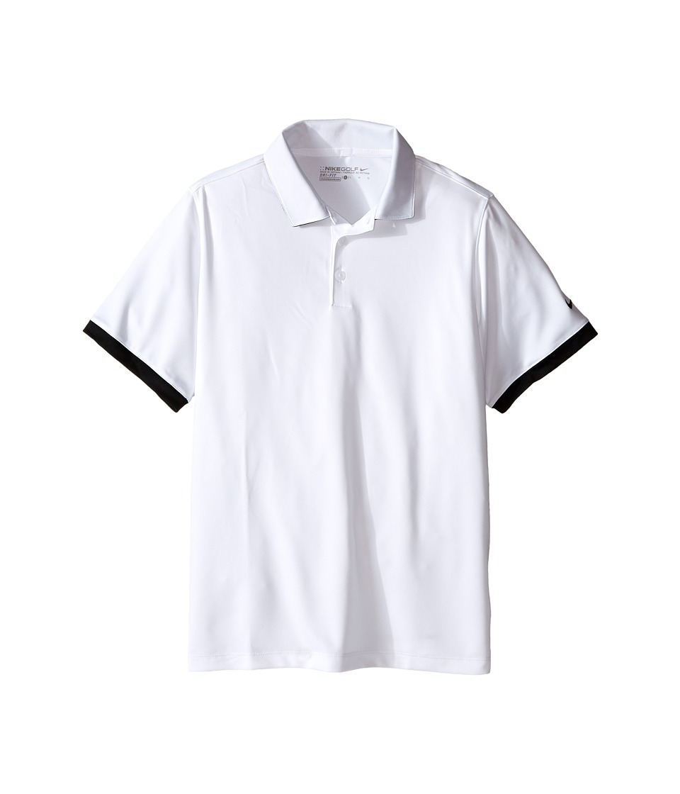 Nike Kids - Icon Polo (Little Kids/Big Kids) (White/Black/Black) Boy's Short Sleeve Pullover