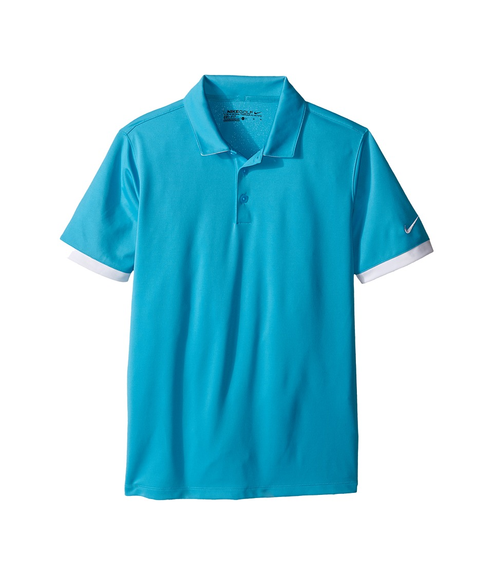Nike Kids - Icon Polo (Little Kids/Big Kids) (Omega Blue/White/White) Boy's Short Sleeve Pullover