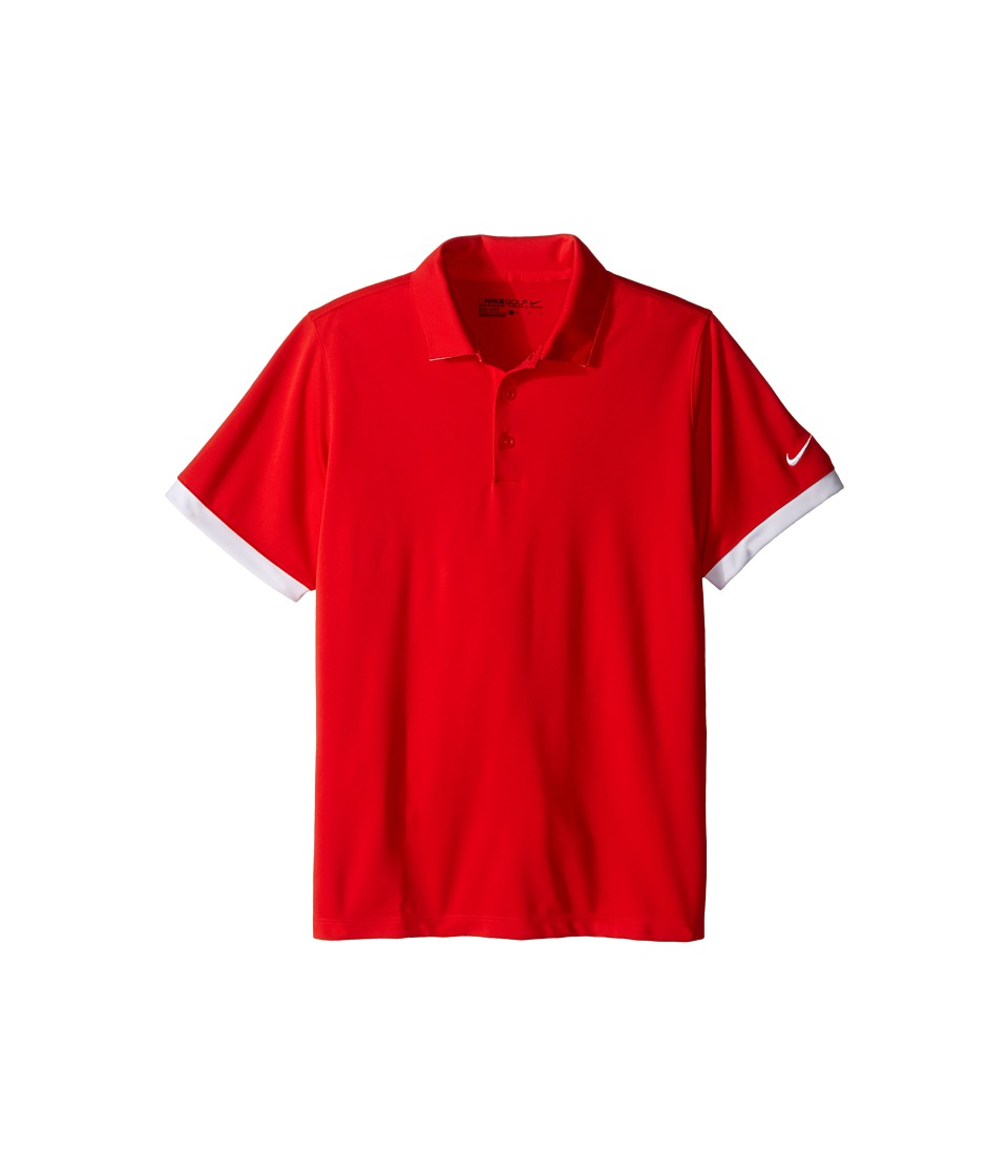 Nike Kids - Icon Polo (Little Kids/Big Kids) (Light Crimson/White/White) Boy's Short Sleeve Pullover