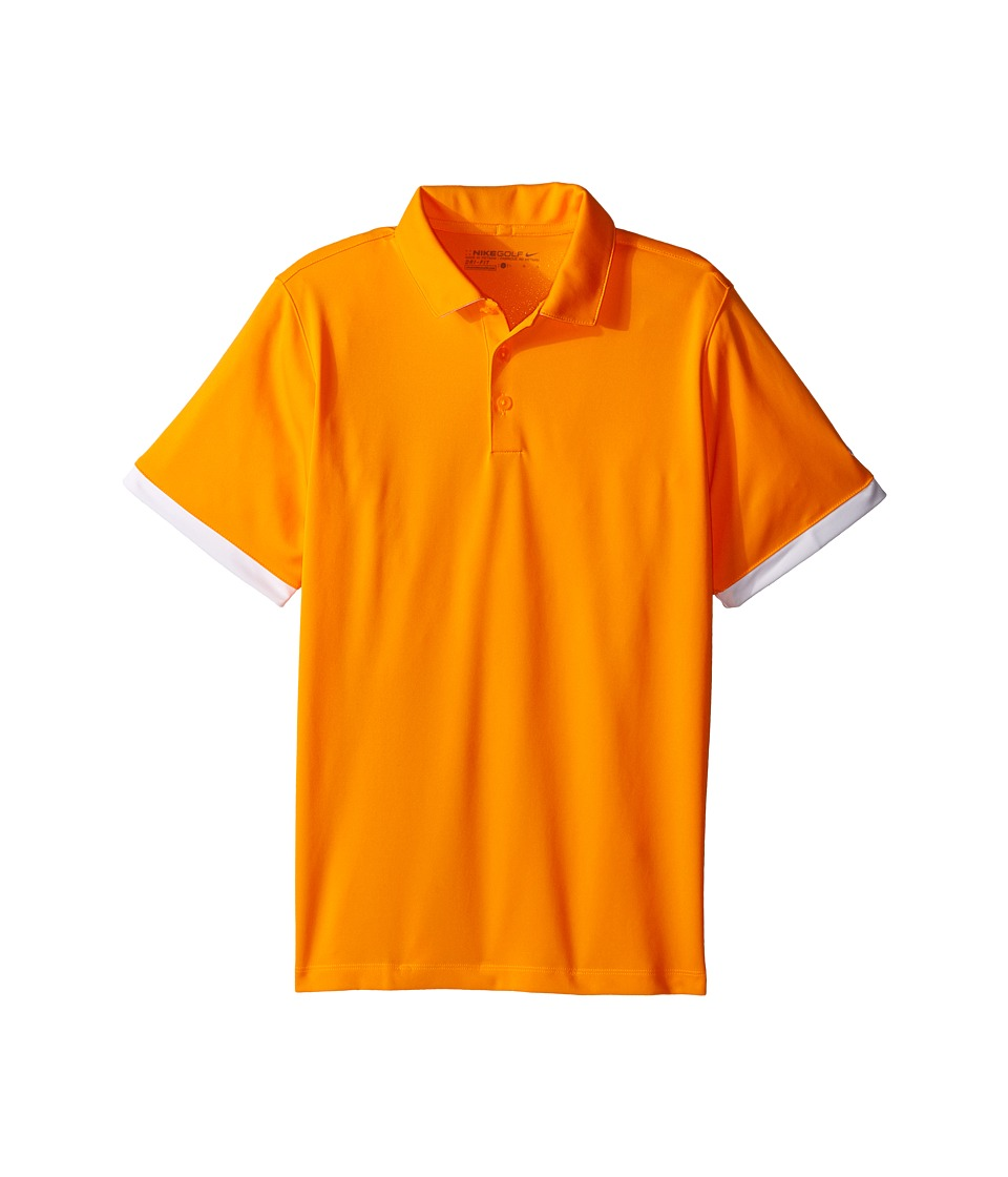 Nike Kids - Icon Polo (Little Kids/Big Kids) (Vivid Orange/White/White) Boy's Short Sleeve Pullover