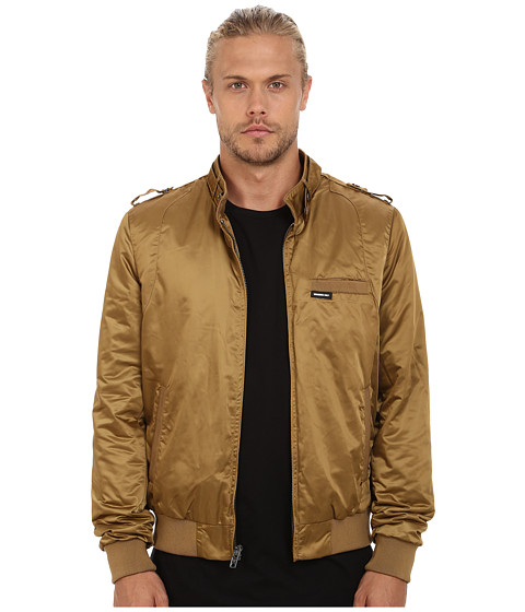 Members Only - Modern Iconic Racer Jacket (British Tan) Men's Coat