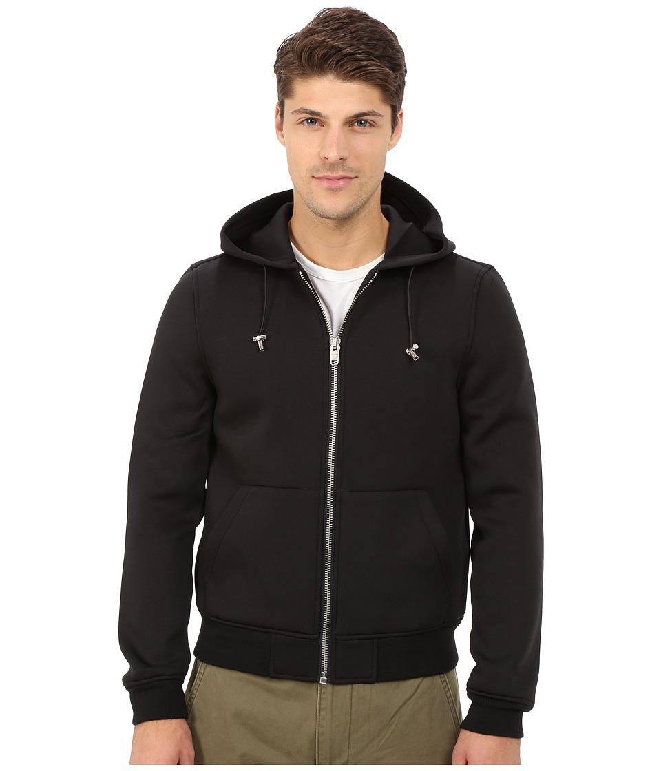 Members Only - Modern Hoodie Jacket in Stretch Neoprene (Black) Men