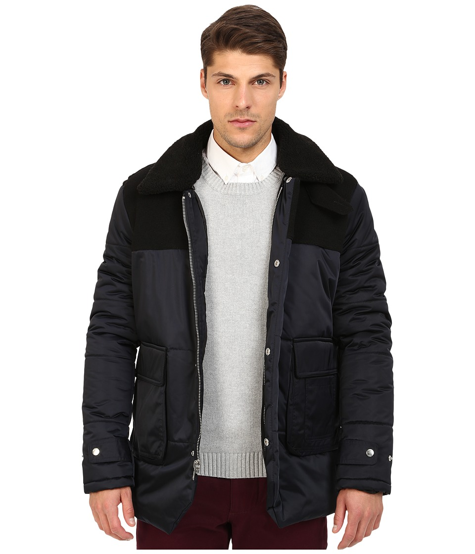 Members Only - Nordic Jacket w/ Faux Fur Collar (Air Force) Men's Coat