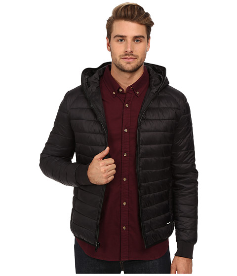 Members Only - Hooded Puffer Jacket (Black) Men