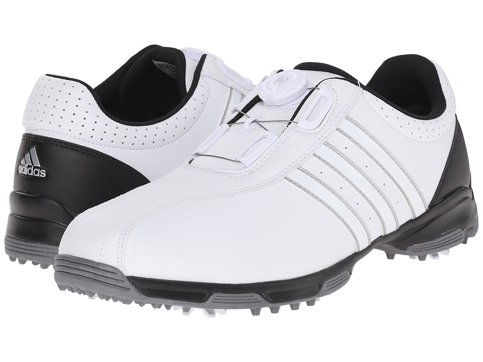 adidas Golf - 360 Traxion Boa (Ftwr White/Ftwr White/Core Black) Men's Golf Shoes