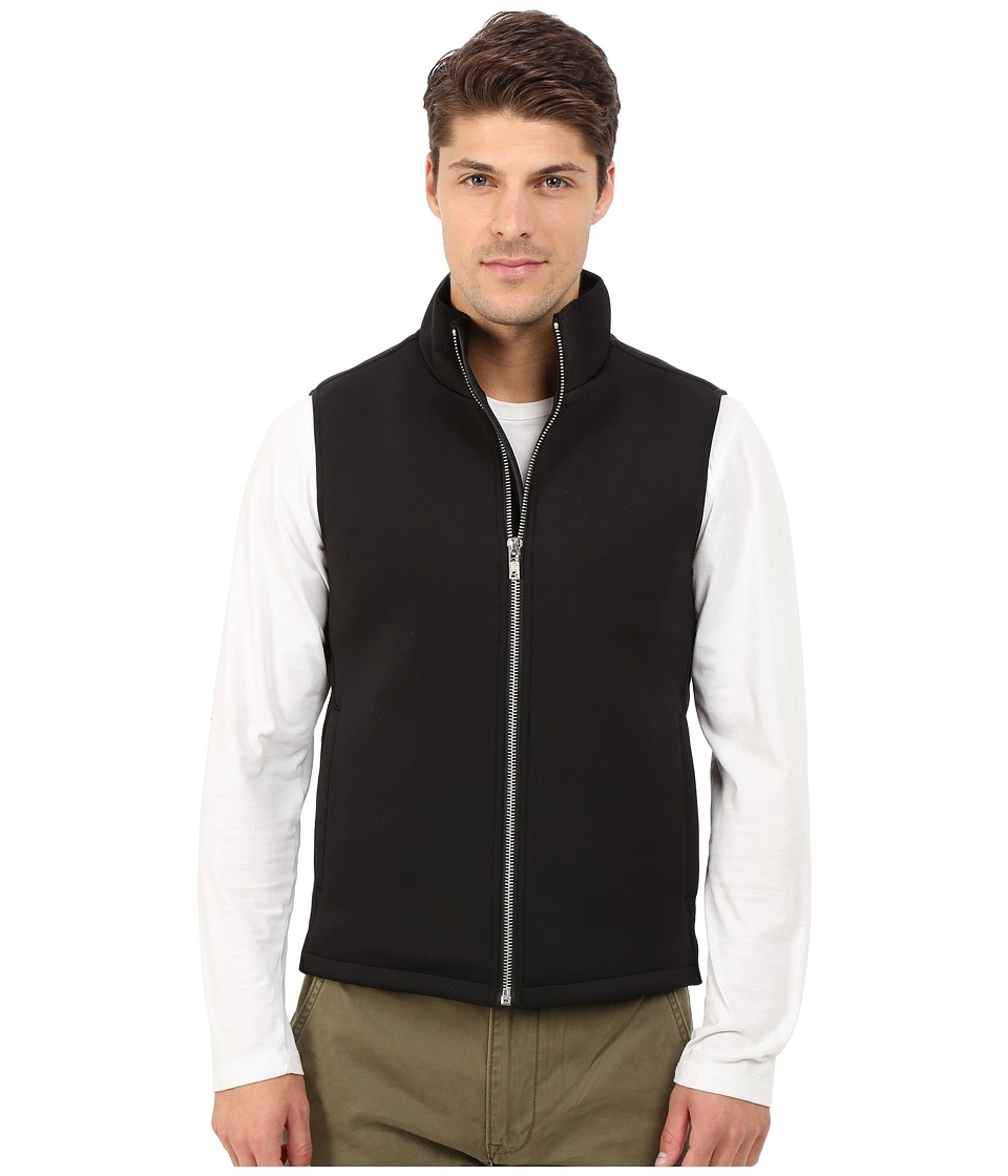 Members Only - Stretch Neoprene Puffer Vest (Black) Men