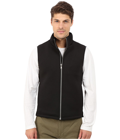 Members Only - Stretch Neoprene Puffer Vest (Black) Men's Vest