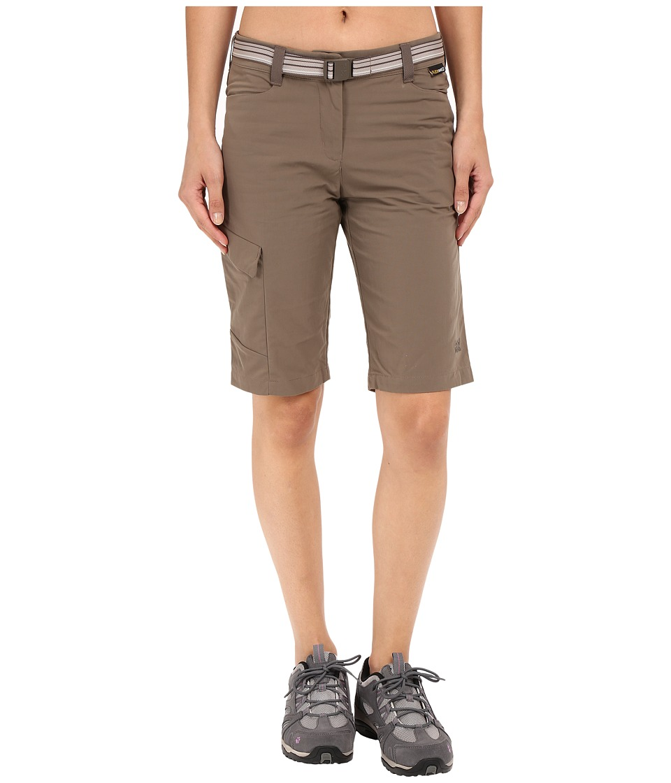 Jack Wolfskin - Canvas Cargo Shorts (Siltstone) Women's Shorts
