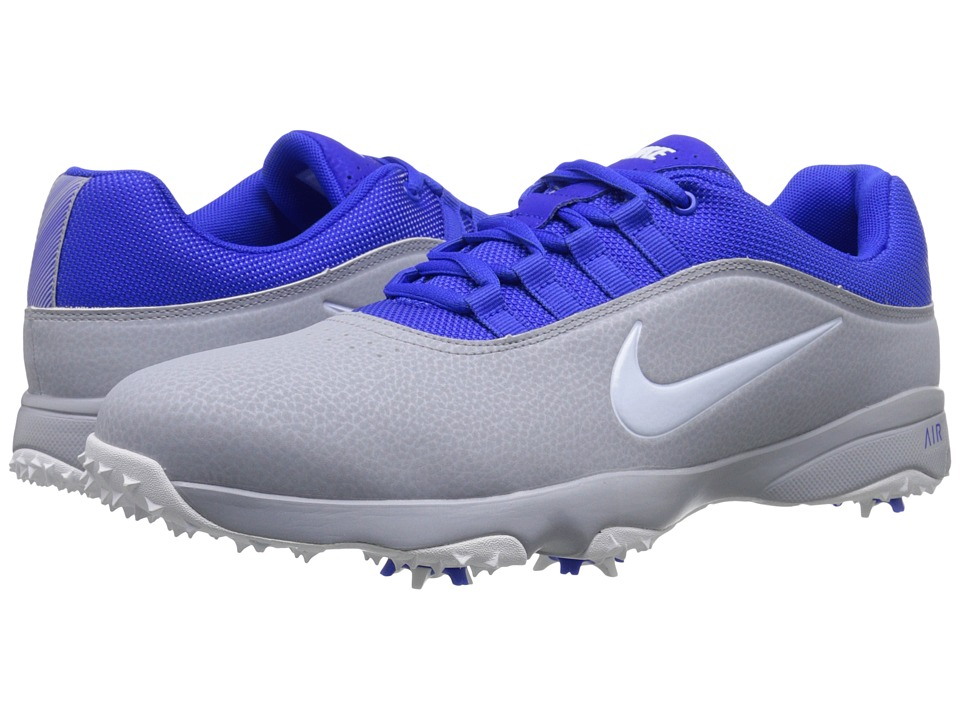 Nike Golf - Air Rival 4 (Wolf Grey/White/Racer Blue) Men's Golf Shoes