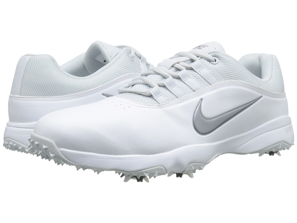 Nike Golf - Air Rival 4 (White/Metallic Cool Grey/Pure Platinum) Men's Golf Shoes