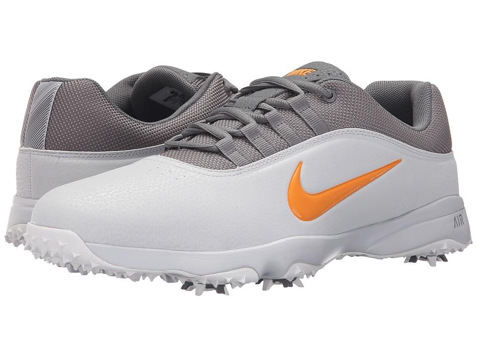 Nike Golf - Air Rival 4 (Pure Platinum/Vivid Orange/White) Men's Golf Shoes