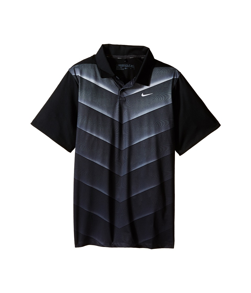 Nike Kids - TW 26 Degree Fade Polo (Little Kids/Big Kids) (Black/Wolf Grey/Reflective Silver) Boy's Short Sleeve Knit