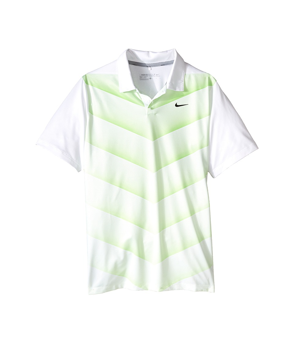 Nike Kids - TW 26 Degree Fade Polo (Little Kids/Big Kids) (White/Action Green/Reflect Black) Boy's Short Sleeve Knit
