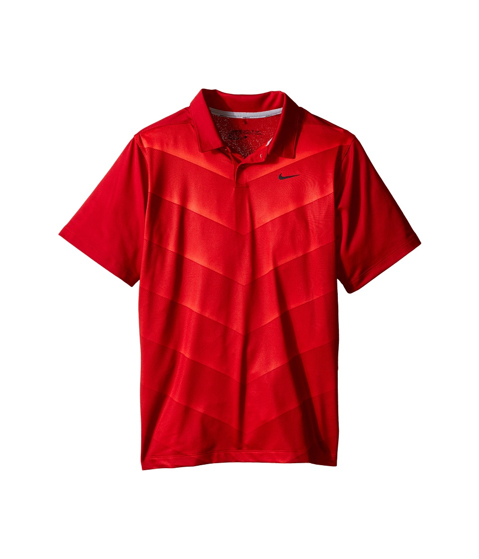 Nike Kids - TW 26 Degree Fade Polo (Little Kids/Big Kids) (Gym Red/Bright Crimson/Reflect Black) Boy's Short Sleeve Knit
